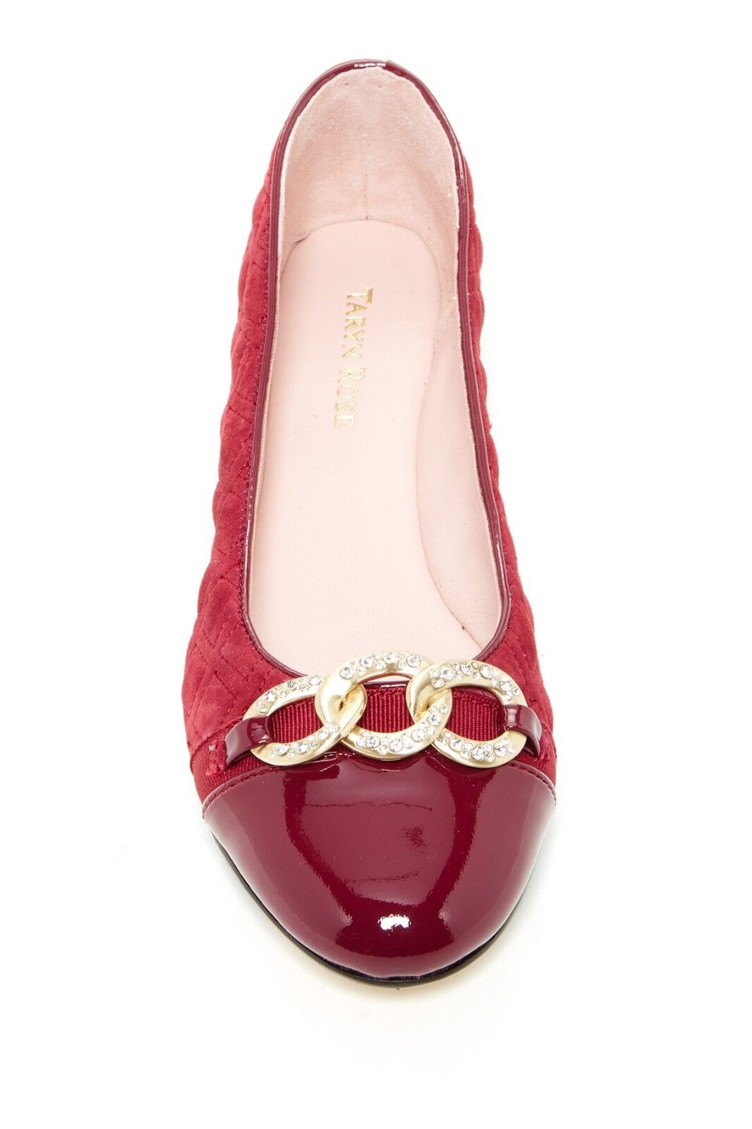 Taryn Rosa Priya Quilted Quilted Quilted Suede Chain Slip-On Ballerina schuhe Flat Pumps 8.5 1cdeef