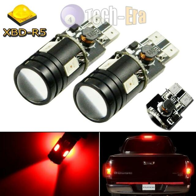 2x Red 9W CREE LED Bulbs For Ford Chevy GMC etc High Mount 3rd Brake Stop Lights