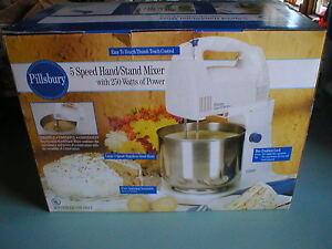 Pillsbury-5-Speed-Hand-Stand-Mixer-Stainless-Bowl-250-Watts-NIB