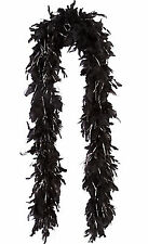 BLACK FEATHER BOA LENGTH 1.5m GIRLS NIGHT OUT BLACK FEATHERS BOA HEN STAG PARTY