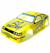 H019Y 1/10 Scale Drift On Road Touring Car Body Cover Shell RC Yellow 190mm Wide