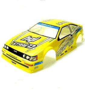 h019y-1-10-SCALA-Drift-su-strada-Touring-AUTO-CORPO-COVER-SH-ell-RC-GIALLO-190MM