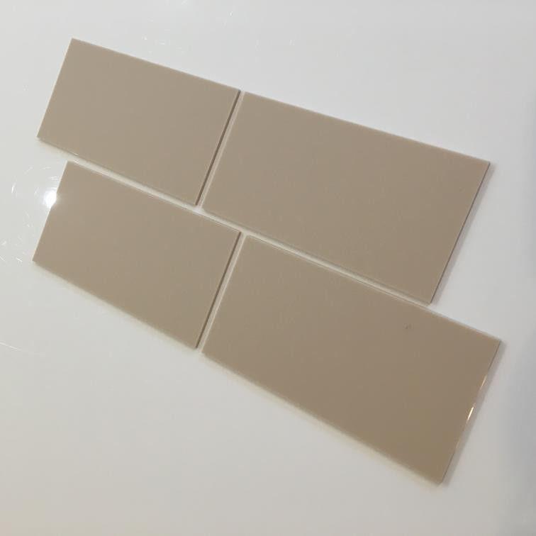 Rectangular Acrylic Wall Tiles - Latte