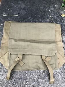 WW2-Army-1943-Canvas-Kit-Bag-Backpack-Haversack-Military-Crows-Foot-Webbing