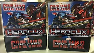 Marvel-Heroclix-CAPTAIN-AMERICA-CIVIL-WAR-two-24ct-gravity-boxes-NEW-SEALED