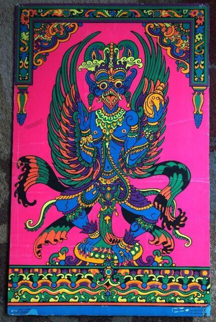 Garuda Original Vintage Blacklight Poster Third Eye ...