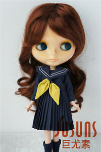 """9-10/"""" Adorable Long Wave Doll Wig Synthetic Mohair Wigs for Blythe Dolls 3 color"""