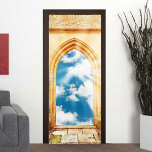 3D-Architectural-Doorway-to-Heaven-Door-Wall-Mural-Wall-Sticker-Wall-Wallpaper