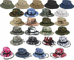 c3a52769edf Boonie Hat Wide Brim Military Camo Hunting Camping Bucket Cap Rothco ...