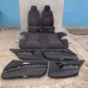 BMW-3-SERIES-E90-Cloth-Fluid-Anthracite-Interior-Seats-with-Airbag-Door-Cards