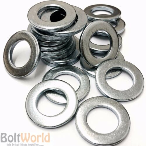 10mm METRIC WASHERS STANDARD FORM A THICK BRIGHT ZINC PLATED BZP DIN 125A M10
