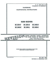Manual Reprint BC-224-F BC-224-K BC-348-H  BC-348-K  BC-348-L BC-348-R  Receiver