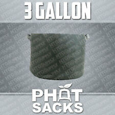 3 GALLON FABRIC GROW POTS SMART g container gro sacks breathable pots planters