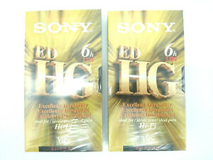 (Lot of 2) NEW Sony 6 Hour Blank VHS Tape T-120 Video Cassette Tapes Hi-Fi