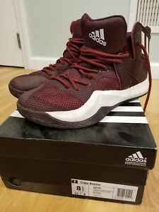 maroon and white basketball shoes