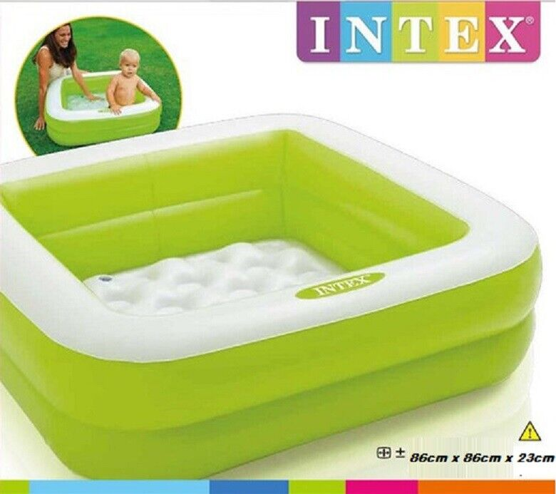 Intex Inflatable Pool Swimming Paddling Kids Play Center Summer Garden Fun Green