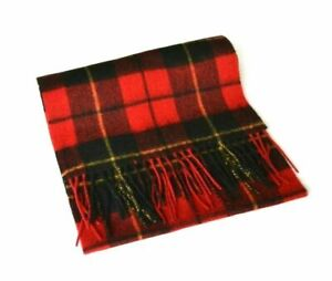 New Scottish 100/% Lambswool of Scotland Scarf Tartan Wool Scarves Red Thomson