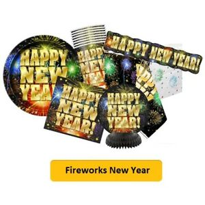 FIREWORKS NEW YEAR Party Range - Tableware Balloons ...