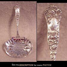 Antique George Shiebler Sterling Silver Nut Spoon American Beauty Pattern