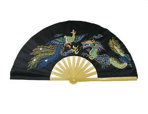 Chinese-Kung-Fu-Tai-Chi-Wushu-martial-art-Performing-dance-Dragon-amp-Phoenix-fan