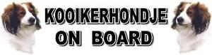KOOIKERHONDJE-ON-BOARD-Dog-Car-Sticker-By-Starprint