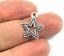 Estrella De Plata Antigua Encantos Colgante de Metal Tibetano Beads Manualidades Tarjetas