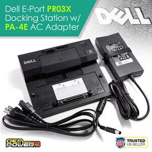 Dell E-Port Replicator Dock Station PR03X E5400 E5410 E5420 E5430 E6320 E6330