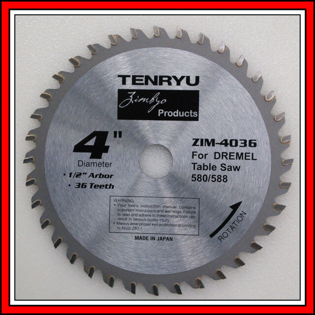 36 tooth carbide blade 4 inch by Tenryu for Dremel 580 580-2 588 588-2 Table Saw