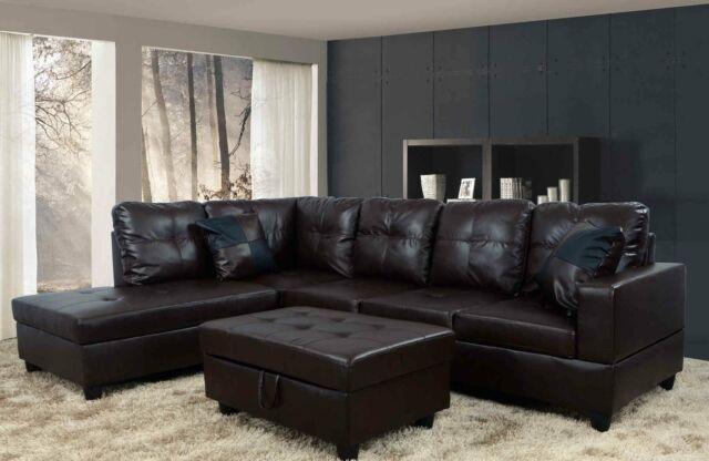 Fine Espresso Leather Sectional With Ottoman Inzonedesignstudio Interior Chair Design Inzonedesignstudiocom