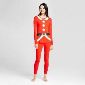 Christmas Pajamas Womens.Details About Wondershop Womens Red Santa Suit Christmas Pjs Set Xs S M L Xl Xxl 3x