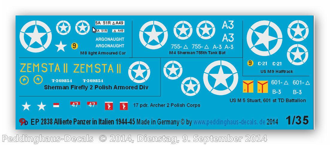 Peddinghaus 2838 1 35 Allierte Allierte Allierte Panzer en Italia 1944-45 8a78e8