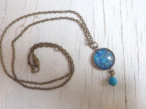 Ohrstecker Child blau Paisley boho Indigo Flower Schmuckset oder Einzelnd