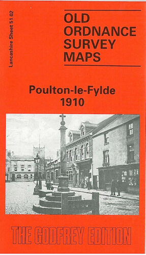 OLD ORDNANCE SURVEY MAP POULTON LE FYLDE 1910 THE GREEN THE BRECK