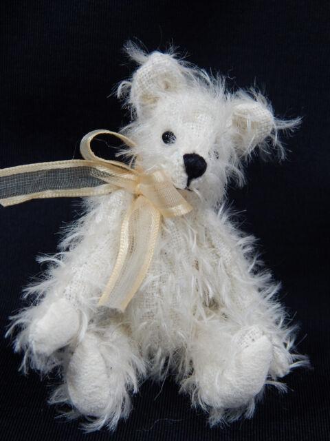 """World Of Miniature Bears 3.25/"""" Mohair Bear Artist Designed Black Color #1087-BK"""