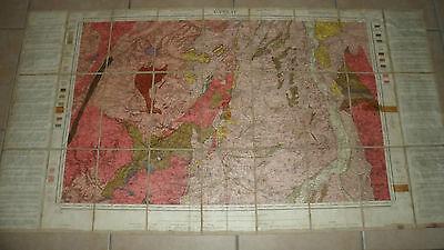 Carte Geologique Detaillee Gannat N 157 Revisee En 1904 Entoilee Ebay