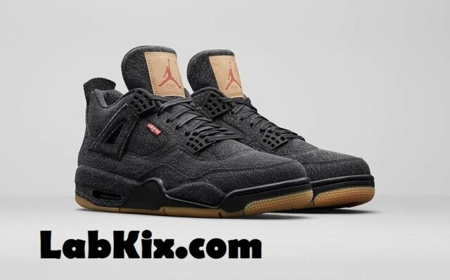 2018 Nike Air Jordan 4 IV Retro NRG SZ 8-14 Black Denim Levis Pack a92904f11