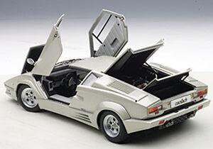 Autoart Lamborghini Countach 25th Ann Ed Silver The Last Produced