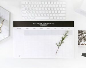 5cb4096d8551 Details about Desktop Weekly Planner Pad Undated Calendar Desk Pad  Organizer Schedule Agenda