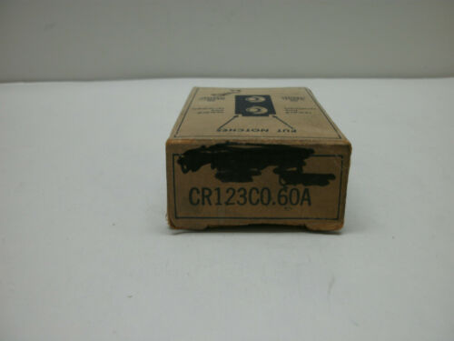 GENERAL ELECTRIC CR123C0.60A OVERLOAD THERMAL UNIT HEATING ELEMENTLOT 0F 2NIB