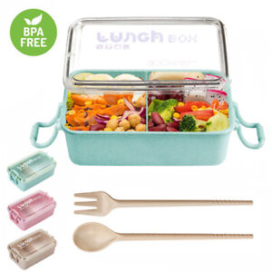 800ml-Wheat-Straw-Lunch-Box-Bento-Box-Microwave-Outdoor-Picnic-Food-Container