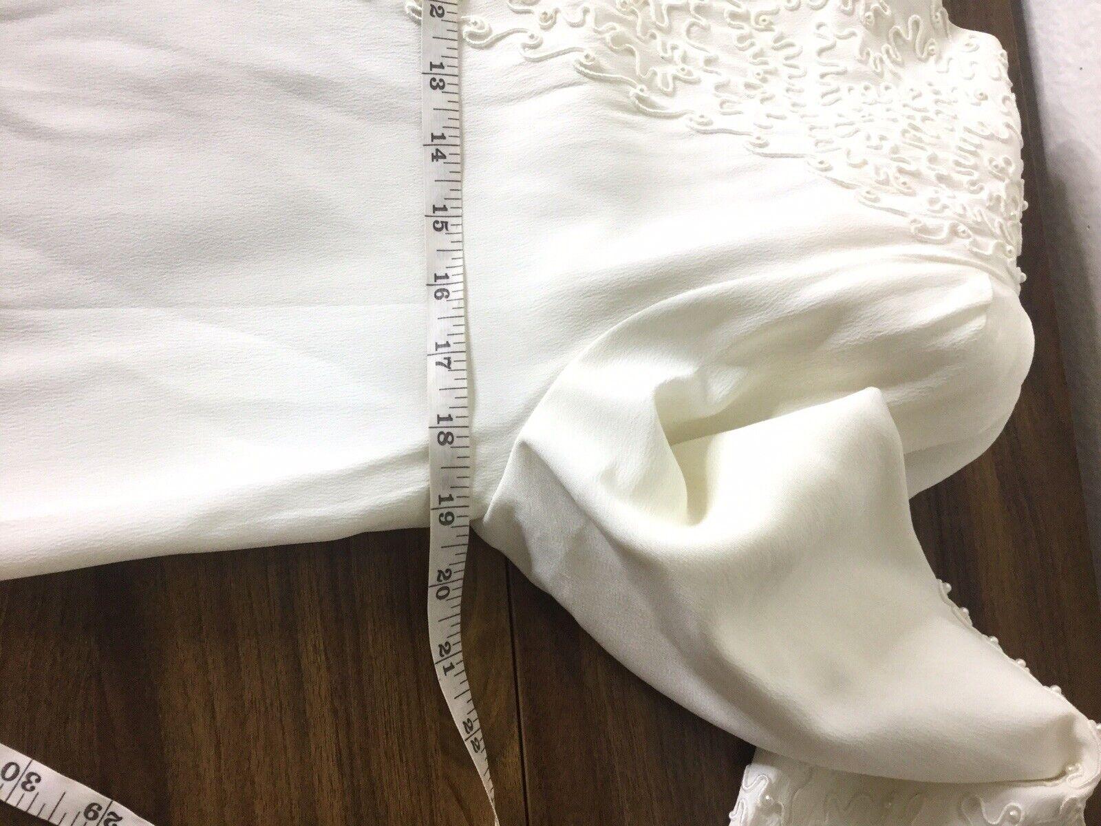 Marie St Claire dress blouse Vintage Sz 6 Pearl B… - image 8