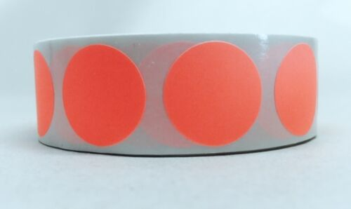 """1000//ROLL  3//4/"""" CIRCLE COLOR CODED LABEL DOT STICKERS INVENTORY CODE 12 COLORS"""