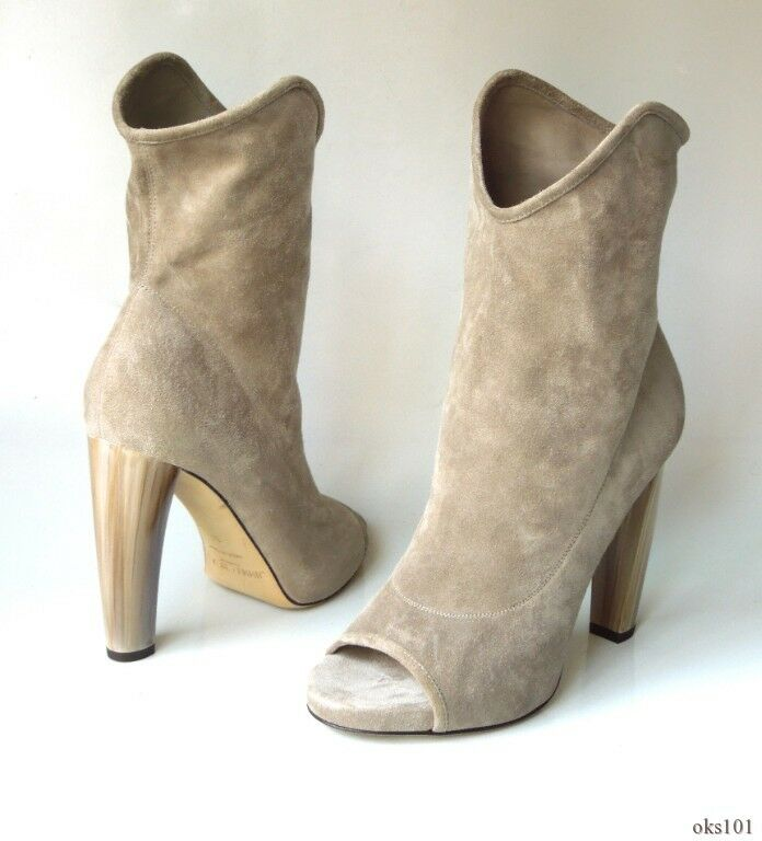 7678448787d28 Jimmy Choo 'maja' Stone Grey Natural Suede Open-toe Ankle BOOTS 36 6 for  sale online | eBay