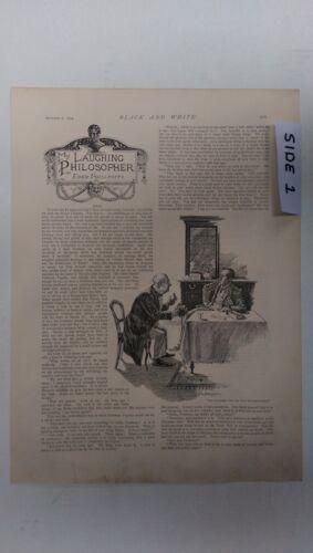 My Laughing Philosopher; Beggars On Horseback: 1894 Black & White Magazine Pages