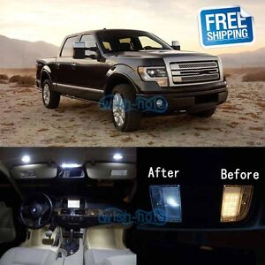 White Led Lights Interior Package Kit For 2010 2014 Ford F150 Svt Raptor Ebay