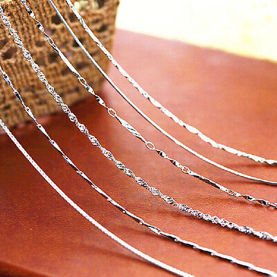 """Wholesale Women Fashion 925 Silver Chain Necklace Gift Jewelry 18"""""""