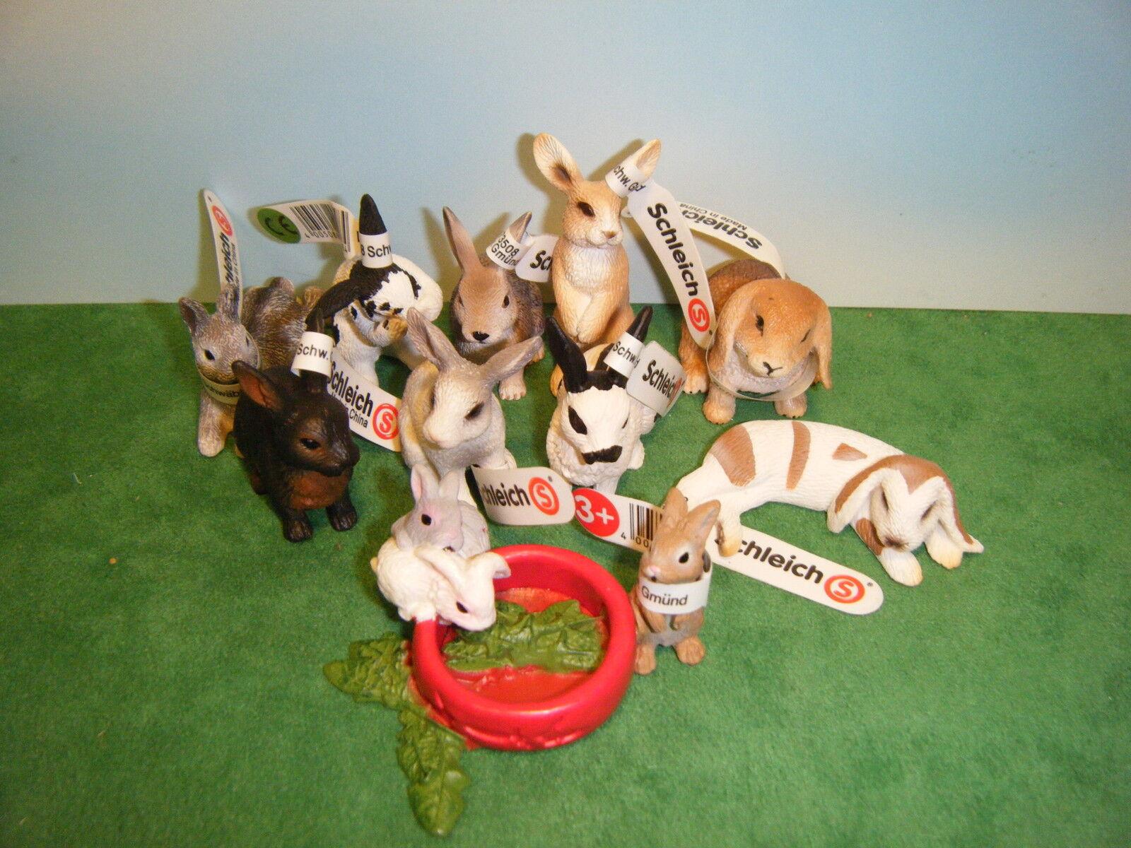 10 Schleich Conejo De La  Nuevo