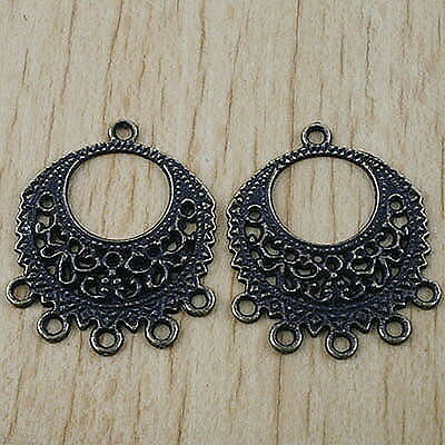 20pcs bronze-tone ear ring style charm finding h2905