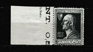 S35616 Italy 1927 MNH New Time c.50 1v Sass. 211k Double Decal