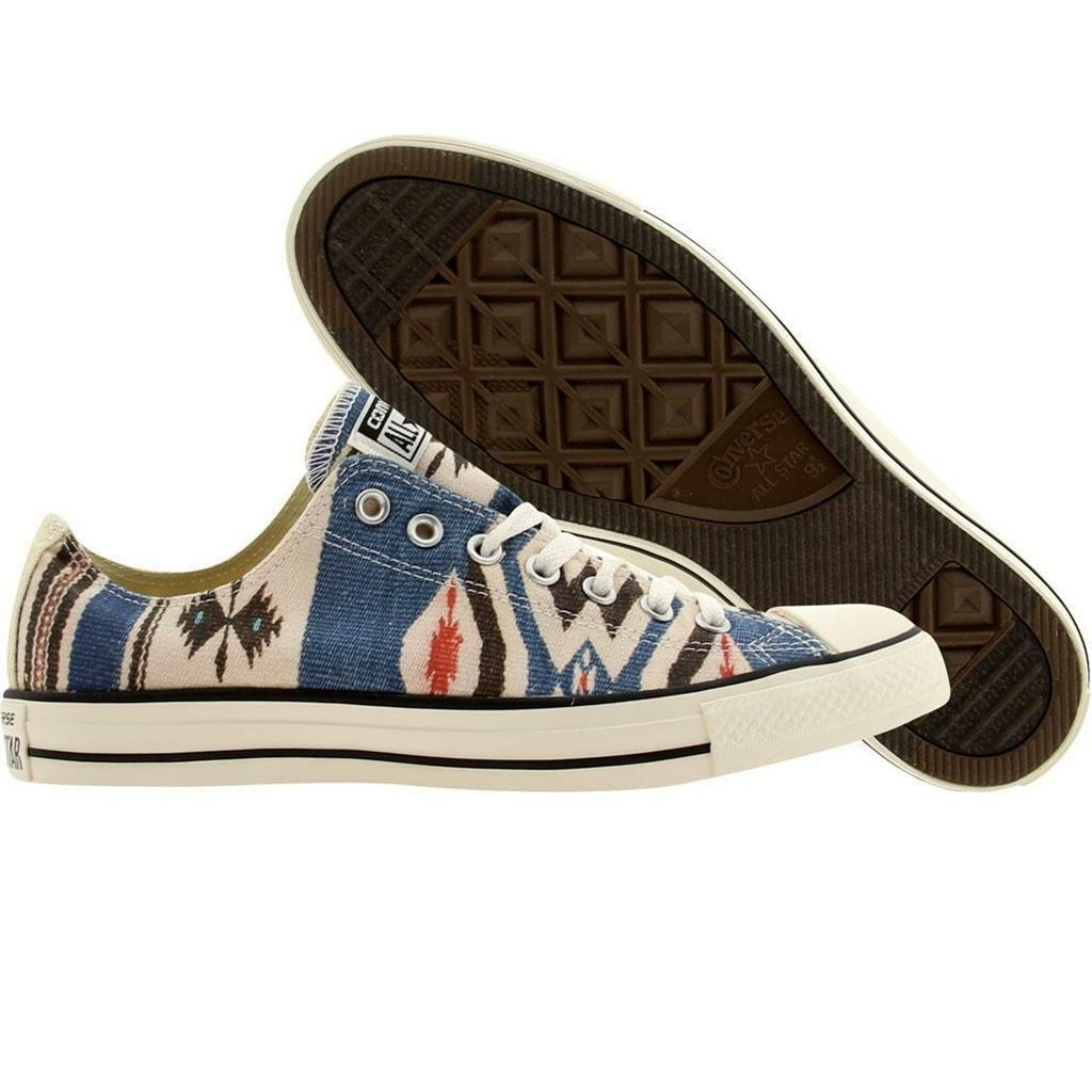 Converse Natural Ox Southwest Native Blanket Chaussures M-10 NEW Bleu Noir Rust DISC
